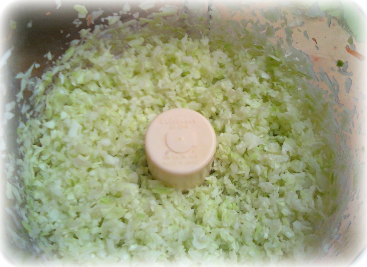 finely chopped cabbage.